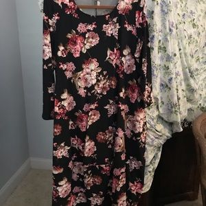 Floral Midi Dress with pockets size 2X